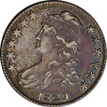 Bust Half Dollars: , 1829 50C Small Letters Fine 15 NGC. O-109, R.4. The star positionsprovide the obverse attribution, with star eight close t...