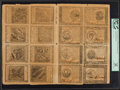 Colonial Notes:Continental Congress Issues, Continental Currency September 26, 1778 Full Sheet of Sixteen PCGSApparent Very Fine 30.. ...