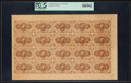 Fractional Currency:First Issue, Fr. 1230 5¢ First Issue Full Sheet of Twenty PCGS Choice About New 58PPQ.. ...