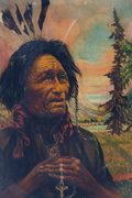 "Original Comic Art:Paintings, Harrison Henrich ""The Northwest Indian"" Painting (1925)...."