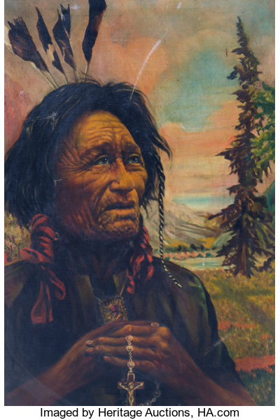 harrison henrich the northwest indian painting 1925 lot