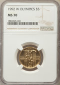Modern Issues, 1992-W $5 Olympic Gold Five Dollar MS70 NGC. PCGS Population: (361)....