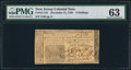 Colonial Notes:New Jersey, New Jersey December 31, 1763 6s PMG Choice Uncirculated 63.. ...