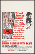 "Movie Posters:James Bond, From Russia with Love (United Artists, 1964). Window Card (14"" X22""). James Bond.. ..."