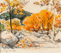 "Fine Art - Work on Paper:Watercolor, Edward Muegge ""Buck"" Schiwetz (American, 1898-1984). SabinalCanyon - The Maples. Ink and watercolor on paper. 7-1/2 x 1..."
