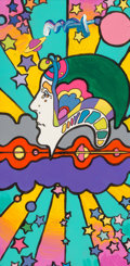 Fine Art - Painting, American:Contemporary   (1950 to present)  , Peter Max (American, b. 1937). Different Drummer. DetailVersion. Acrylic on canvas. 12 x 6 inches (30.5 x 15.2 cm).Sig...