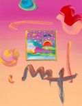 Paintings, Peter Max (American, b. 1937). Set of Three Works from Woodstock Series. Mixed media on canvas. 11 x 8-1/2 inches (27.9 ... (Total: 3 Items)