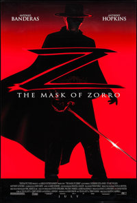 """The Mask of Zorro (Tri-Star, 1998). One Sheet (27"""" X 40"""") DS Advance. Action"""