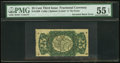 Fractional Currency:Third Issue, Fr. 1298 Milton 3R25.4b 25¢ Third Issue Inverted Back Engraving PMG About Uncirculated 55 EPQ.. ...