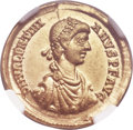 Ancients:Roman Imperial, Ancients: Valentinian II (AD 375-392). AV solidus (21mm, 4.37 gm,6h). NGC AU 5/5 - 4/5....