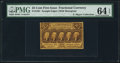 Fractional Currency:First Issue, Fr. 1281 Milton 1R25.4e 25¢ First Issue Inverted Back PMG Choice Uncirculated 64 EPQ.. ...
