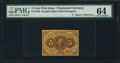 Fractional Currency:First Issue, Fr. 1230 Milton 1R5.4g 5¢ First Issue Inverted Back PMG ChoiceUncirculated 64.. ...