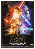 "Movie Posters:Science Fiction, Star Wars: Episode VII - The Force Awakens (Walt Disney Studios,2015). Indian One Sheet (27.5"" X 37.75"") Advance 3-D/IMAX 3..."