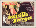 """Movie Posters:Action, Invisible Avenger (Republic, 1958). Half Sheet (22"""" X 28""""). Action.. ..."""