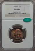 Washington Quarters, 1951-S 25C MS68 ★ NGC. CAC....