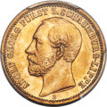 German States:Schaumburg-Lippe, German States: Schaumburg-Lippe. Adolf Georg gold 20 Mark 1874-BMS67+ PCGS,...