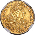 German States:Bavaria, German States: Bavaria. Maximilian II Emanuel Goldgulden 1702 MS64NGC,...
