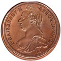 Austria, Austria: Maria Theresia copper Obverse Hub Trial Taler ND (1780) MS65 Brown NGC, ...
