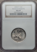 Statehood Quarters, 2000-P 25C Massachuse MS69 NGC. PCGS Population: (2/0). . FromThe Mile High Collection....