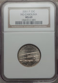 Statehood Quarters, 2001-P 25C North Carolina MS69 NGC. PCGS Population: (7/0)..From The Mile High Collection....