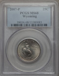 Statehood Quarters, 2007-P 25C Wyoming MS68 PCGS. PCGS Population: (4/0). . From TheMile High Collection....