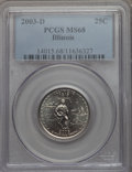 Statehood Quarters, 2003-D 25C Illinois MS68 PCGS. PCGS Population: (17/0). NGC Census:(6/0). . From The Mile High Collection....