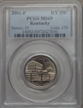 Statehood Quarters, 2001-P 25C Kentucky MS69 PCGS. PCGS Population: (7/0). . FromThe Mile High Collection....