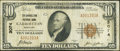 National Bank Notes:Kentucky, Carrollton, KY - $10 1929 Ty. 1 The Carrollton NB Ch. # 3074. ...