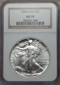 Modern Bullion Coins, 1989 $1 Silver Eagle MS70 NGC. NGC Census: (789). PCGS Population: (58). Mintage 5,203,327. ...