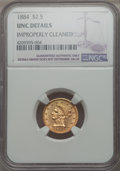 Liberty Quarter Eagles: , 1884 $2 1/2 -- Improperly Cleaned -- NGC Details. Unc. NGC Census: (5/66). PCGS Population: (3/35). CDN: $1,650 Whsle. Bid ...