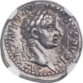 Ancients:Roman Imperial, Ancients: Tiberius (AD 14-37). AR denarius (19mm, 3.71 gm, 6h). NGC XF ★ 5/5 - 5/5....