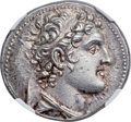 Ancients:Greek, Ancients: SELEUCID KINGDOM. Alexander I Balas (152-145 BC). ARtetradrachm (28mm, 14.15 gm, 12h). NGC Choic...