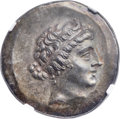 Ancients:Greek, Ancients: AEOLIS. Cyme. Ca. 155-145 BC. AR tetradrachm (31mm, 16.69gm, 11h). NGC MS 4/5 - 5/5....