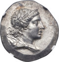 Ancients:Greek, Ancients: IONIA. Magnesia ad Meandrum. Ca. 155-145 BC. AR tetradrachm (32mm, 16.63 gm, 11h). NGC Choice MS 5/5 - 5/5, Fine Style....