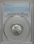 Lincoln Cents: , 1943-D/D 1C MS65 PCGS. PCGS Population: (46/35). CDN: $800 Whsle. Bid for problem-free NGC/PCGS MS65. ...