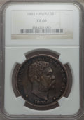 Coins of Hawaii , 1883 $1 Hawaii Dollar XF40 NGC. NGC Census: (67/307). PCGSPopulation: (174/490). CDN: $500 Whsle. Bid for problem-free NGC...