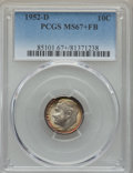 Roosevelt Dimes, 1952-D 10C MS67+ Full Bands PCGS. PCGS Population: (79/1 and 12/0+). NGC Census: (103/1 and 1/0+). Mintage 122,100,000. ...