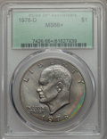 Eisenhower Dollars, 1978-D $1 MS66+ PCGS. PCGS Population: (595/2 and 32/0+). NGC Census: (581/4 and 0/0+). Mintage 33,012,890. ...