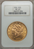 Liberty Double Eagles: , 1896 $20 MS62 NGC. NGC Census: (4434/1808). PCGS Population: (3033/1190). CDN: $1,370 Whsle. Bid for problem-free NGC/PCGS ...