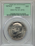 Kennedy Half Dollars, 1974-D 50C Doubled Die Obverse, FS-101, MS66 PCGS. (015). PCGSPopulation: (2/0). NGC Census: (10/0)....