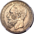 Azores, Azores: Portuguese Colony Counterstamped 1200 Reis ND (1887) MS63NGC,...