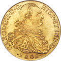 Colombia, Colombia: Charles IV gold 8 Escudos 1802 NR-JJ MS63 NGC,...