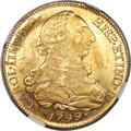 Chile, Chile: Charles IV gold 8 Escudos 1799 So-DA AU58 NGC,...