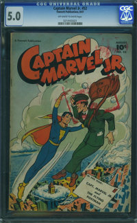 Captain Marvel Jr. #52 (Fawcett Publications, 1947) CGC VG/FN 5.0 Off-white to white pages