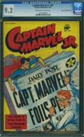 Golden Age (1938-1955):Superhero, Captain Marvel Jr. #39 - Crowley Pedigree (Fawcett Publications, 1946) CGC NM- 9.2 Cream to off-white pages.