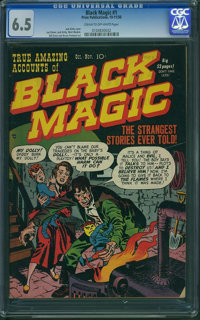 Black Magic #1 (Crestwood/Headline, 1950) CGC FN+ 6.5 Cream to off-white pages