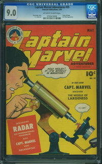 Captain Marvel Adventures #35 (Fawcett Publications, 1944) CGC VF/NM 9.0 Off-white to white pages