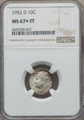 Roosevelt Dimes, 1952-D 10C MS67+ Full Bands NGC. NGC Census: (103/1 and 1/0+). PCGS Population: (79/1 and 12/0+). Mintage 122,100,000. ...