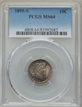 Barber Dimes: , 1895-S 10C MS64 PCGS. PCGS Population: (35/10). NGC Census: (42/6).CDN: $1,300 Whsle. Bid for problem-free NGC/PCGS MS64. ...