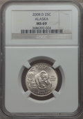 Statehood Quarters, 2008-D 25C Alaska MS69 NGC. NGC Census: (2/0). . From The MileHigh Collection....